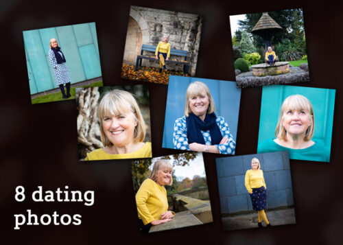 Selection of photos captured on a medium dating shoot.