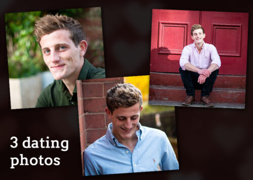 Example of three dating photos - part of our small photo shoot