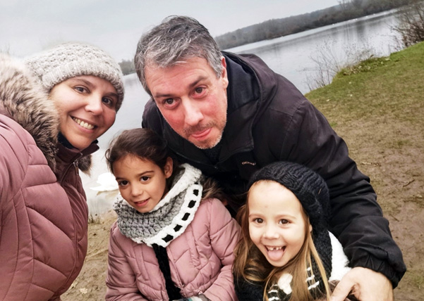 Verity, Paul & family - the result of online dating being successful
