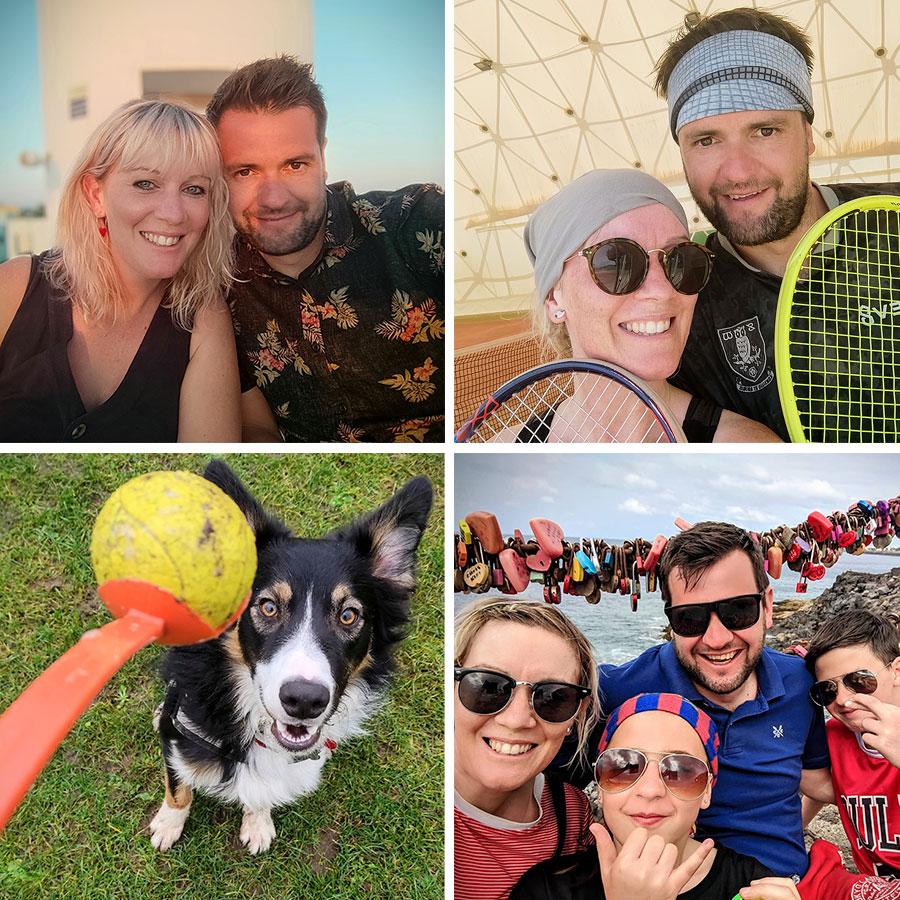 Gemma, Jamie, step children and dog