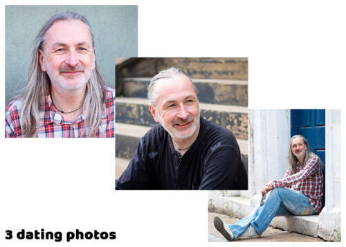 Dating Photos - you get three photos with the Small Dating Photo Shoot